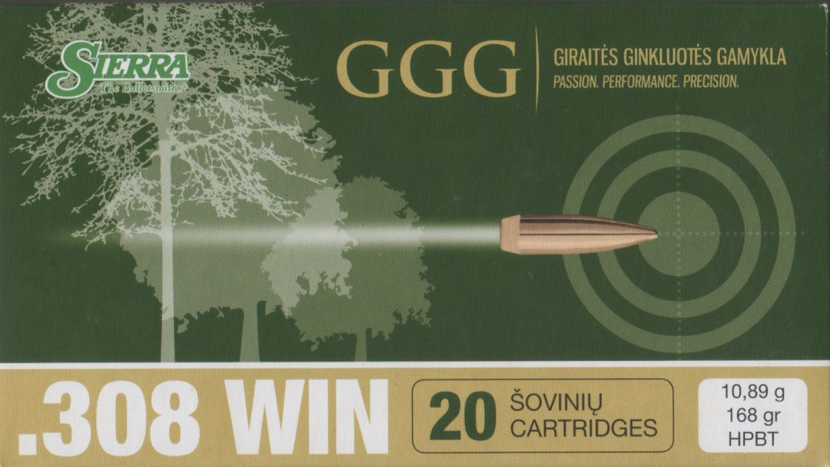 GGG 308WIN 168grn Sierra MatchKing
