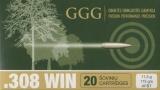 GGG náboj .308 WIN - HPBT 175grn Sierra MatchKing