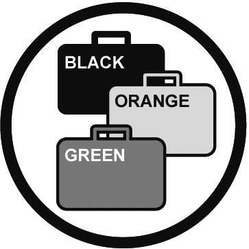 Je nabízen ve třech barvách : vojenská khaki, taktická černá, reflexivní oranžová