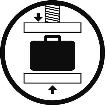 Kufry jsou vysoce odolné vysokému tlaku. Díky tlakovému ventilu je možno zajistit tlakovou stálost uvnitř kufru